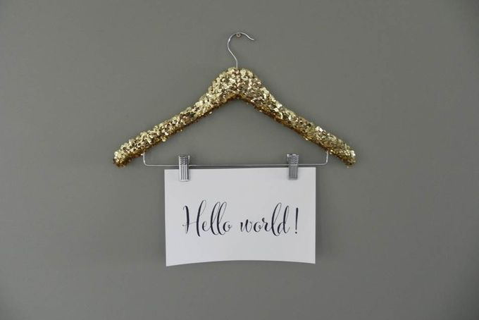 Glitter sequined hanger with hooks by Lovilee