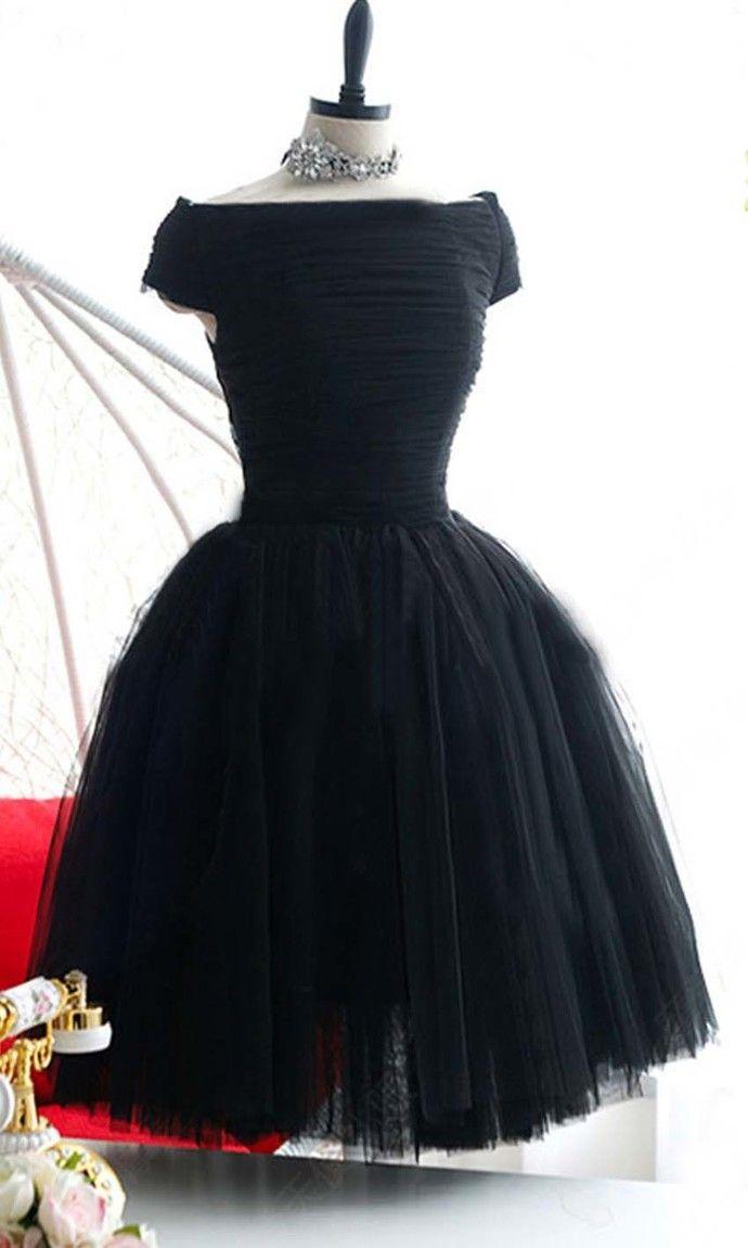 Black dress under graduation gown - Prom Dress Short Knee Length Retro Little Black Graduation Party Prom Dress