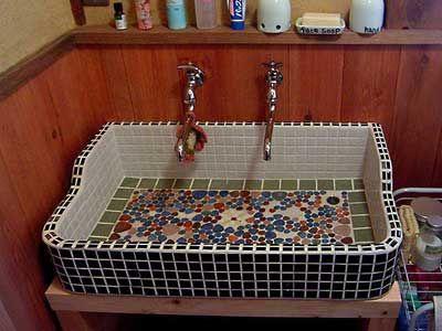オーガニック住宅の洗面台
