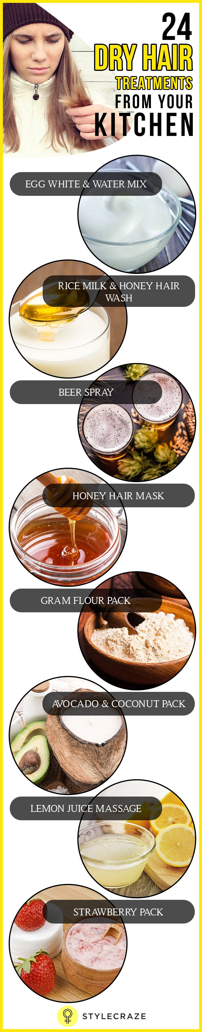 If you are looking for the best organic hair treatments to get your hair that shines with health, we have just the thing for you! Here are the best dry hair kitchen treatments you can try at home for soft, healthy and manageable hair.