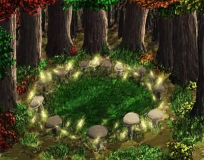 According to Irish legend, Fairy Rings are the location of gateways into the fairy kingdom. The physical appearance of a circle of mushrooms or flowers are commonly found throughout the Emerald Isle. Folklore states that a fairy ring appears where a Leprechaun, fairy, or any other sprightly mystical creature exists and they will often be found laughing and dancing in the twilight.