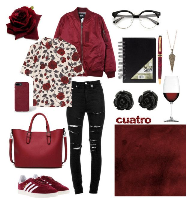 """""""cuatro"""" by lillian-rose-31 on Polyvore featuring Stussy, adidas, Yves Saint Laurent, Ganni, Paul Smith, Siena Jewelry and Nachtmann"""