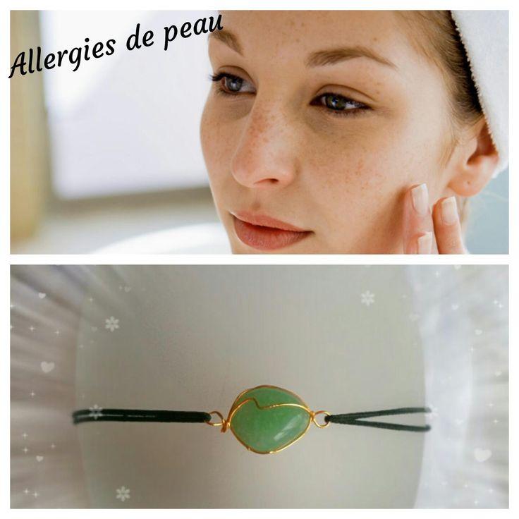 """Bracelet pour """"LES PROBLÈMES DE PEAU """" : l'Aventurine"""