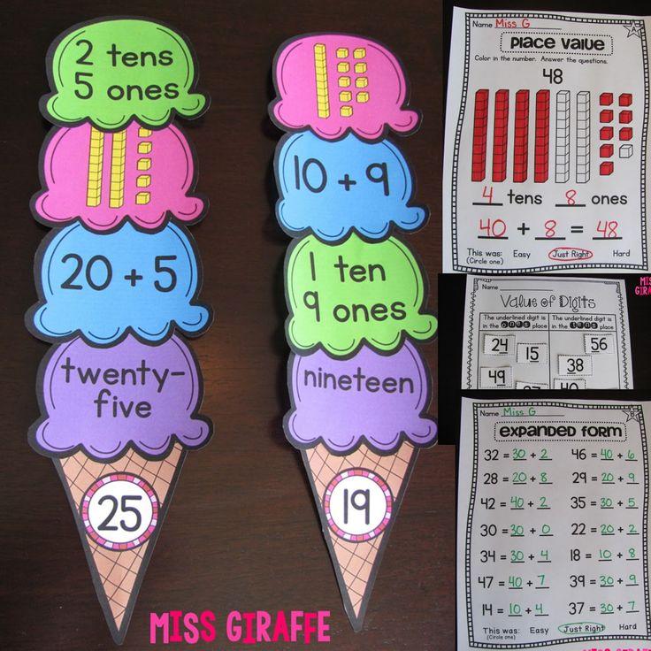 Miss Giraffe's Class: First Grade Math Ideas for the Entire Year!