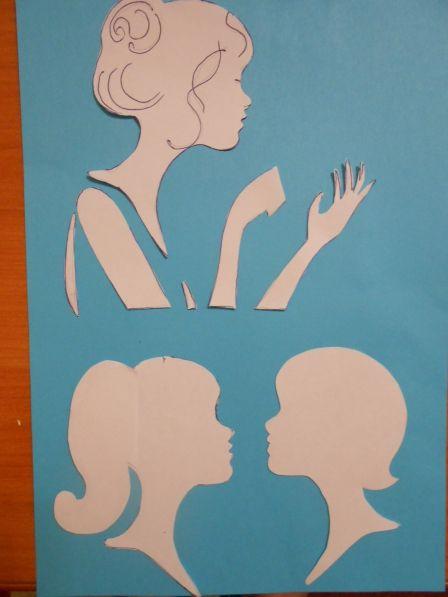 Мастер-класс Аппликация «Открытка для любимой мамочки». Воспитателям детских садов, школьным учителям и педагогам - Маам.ру