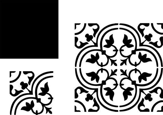 Pochoirs carreaux de ciment imitation par DuMazelfrenchstencil