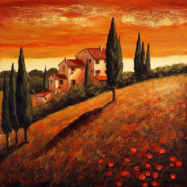 Vibrant shades of red, gold, and orange combine to create a beautiful rustic sunset inspired by the Italian region of Tuscany. Description from pinterest.com. I searched for this on bing.com/images