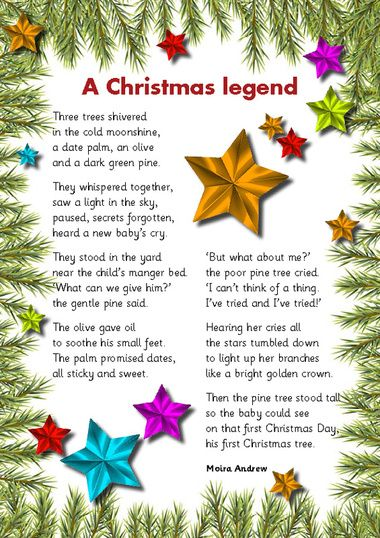 this is the story i tell my children every year as we put up our christmas tree i was so excited to find it in poem form so i had to shar