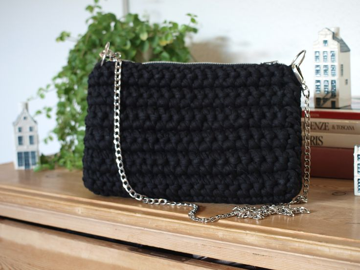 Hæklet taske - stofgarn    Crochet bag - fabric yarn    www.cicitive.dk