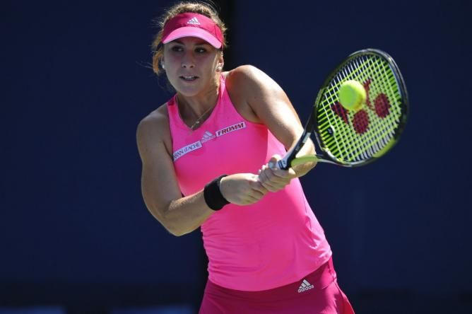 Belinda Bencic US Open 2014 youngest in the quarters since her mentor Martina Hingis