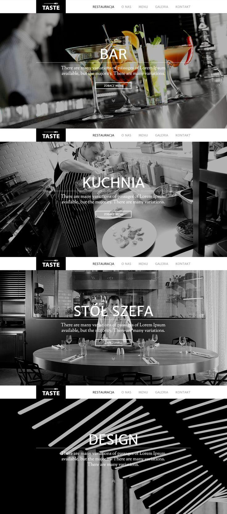 Strona główna restauracji TASTE Wilanów.