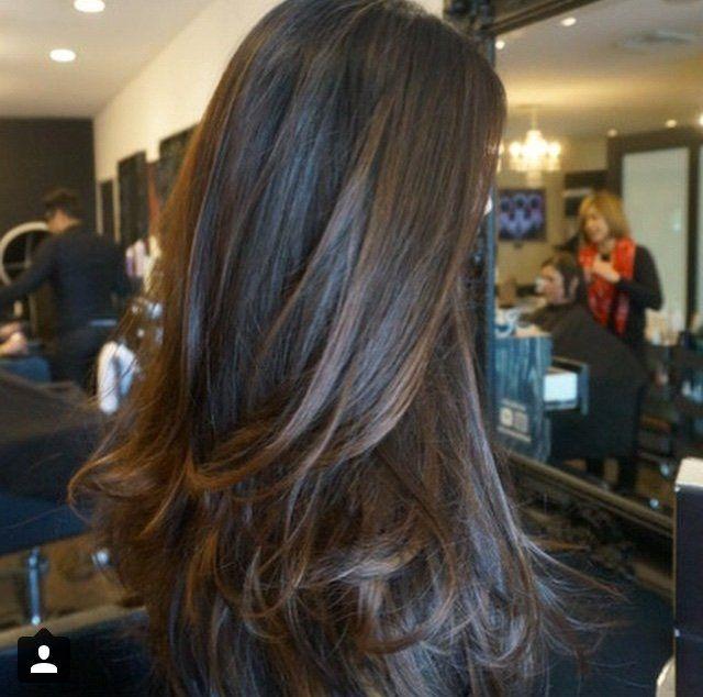 Blanc Noir Hairdressing , Costa Mesa, CA, United States. Multi,dimensional brunette