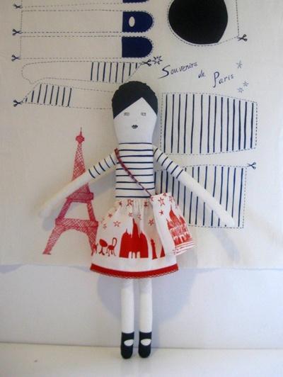 I Love Paris Doll by Miko Designs