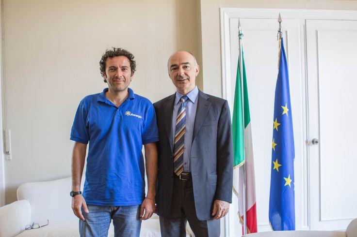 Con l'Ambasciatore d'Italia a Santiago
