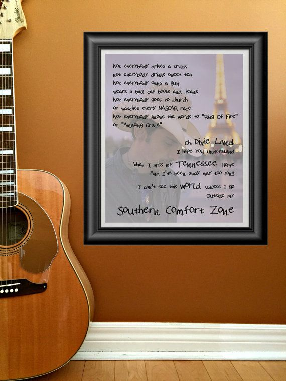 Southern Comfort Zone by Brad Paisley by PrintableSongParts