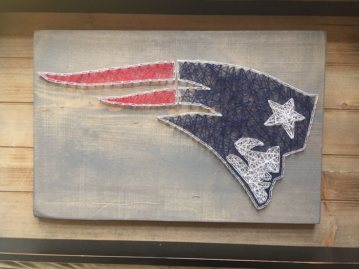 A personal favorite from my Etsy shop https://www.etsy.com/listing/268426038/new-england-patriots-string-art