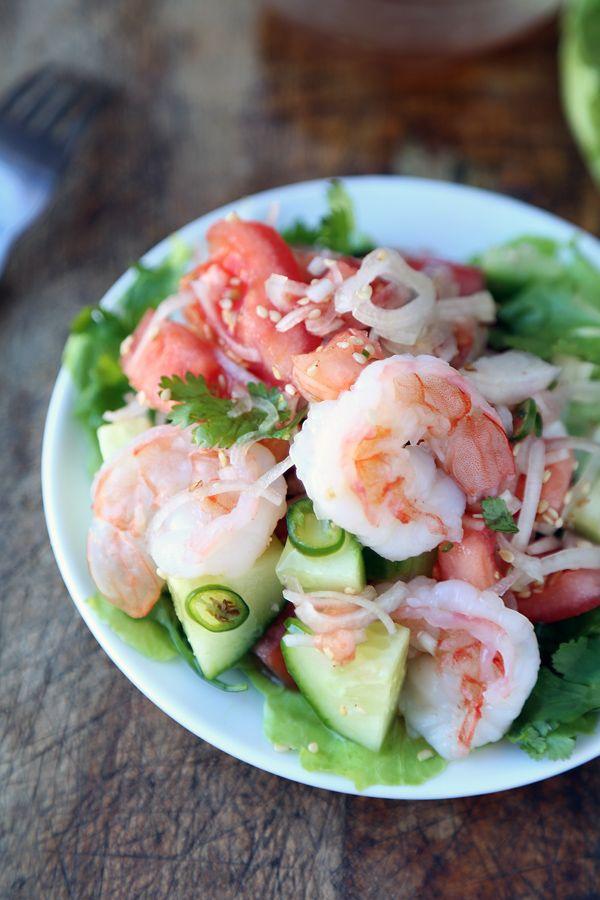 Thai Shrimp and Cucumber Salad