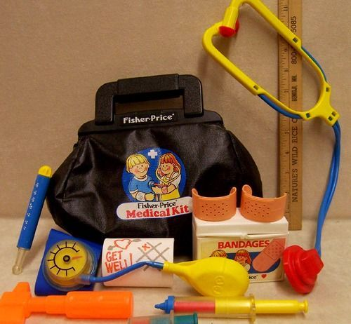 Fisher Price Doctor Kit. Back when toys weren't genderized...my grandma still has this