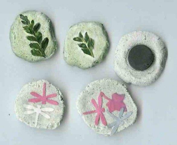 salt dough magnets - Per i memo del frigorifero, crea in casa delle simpatiche calamite decorate con la pasta di sale.