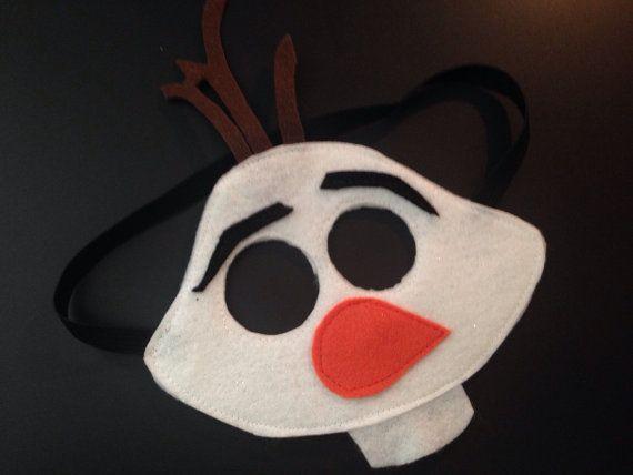Frozen Snowman Felt Mask... by DomesticDiva33 on Etsy, $12.00
