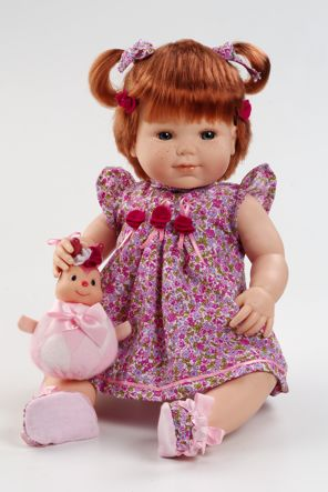 Realistická panenka holčička Dorota od firmy Berjuan ze Španělska