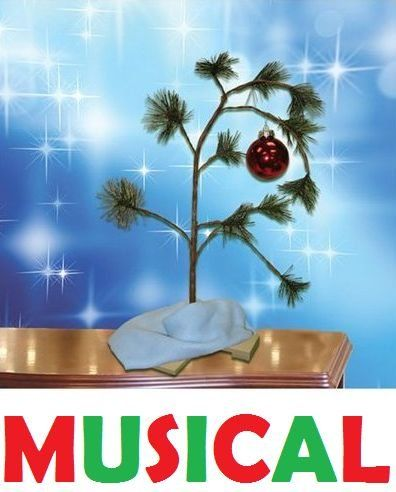 """$29.95-$22.98 CharlieBrown Music Tree - We'll never forget what the little sapling meant to the PEANUTS gang. Now musical, our little tree plays """"Linus & Lucy Theme!""""  Simple assembly required. Includes 2 AAA batteries. About 24"""" tall. http://www.amazon.com/dp/B004BMRZCY/?tag=pin2wine-20"""