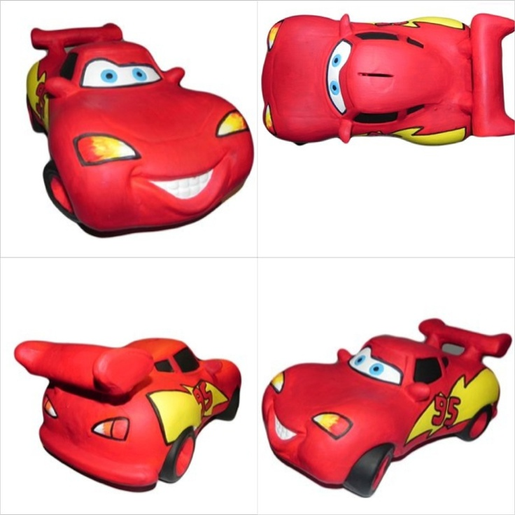 Divinísimo Rayo McQueen!!! #Cars #Red #Carro #Rojo #Rayo #Disney #Alcancía #Piggy #Bank #Save #Money
