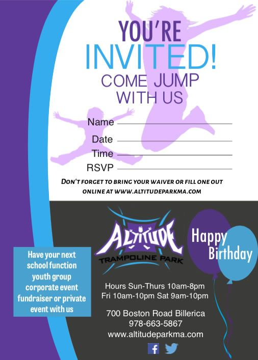 The 25 best Trampoline birthday party ideas – How to Fill out a Birthday Party Invitation