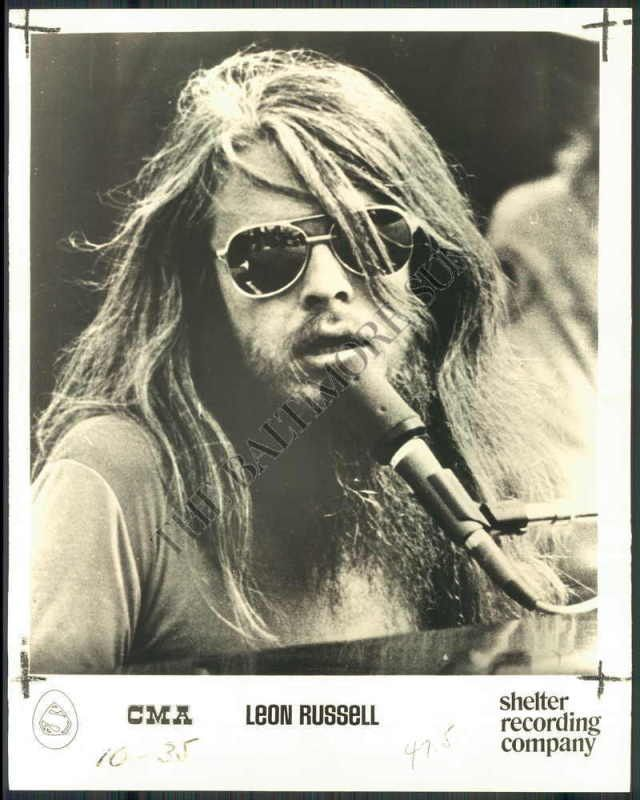 Leon Russell. I was so completely in lust with this man. What talent, what style, what hair.