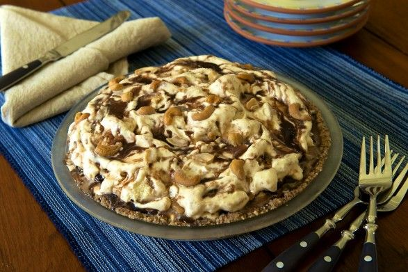 Hot Fudge Peanut Butter Ice Cream Pie by The Fountain Avenue Kitchen