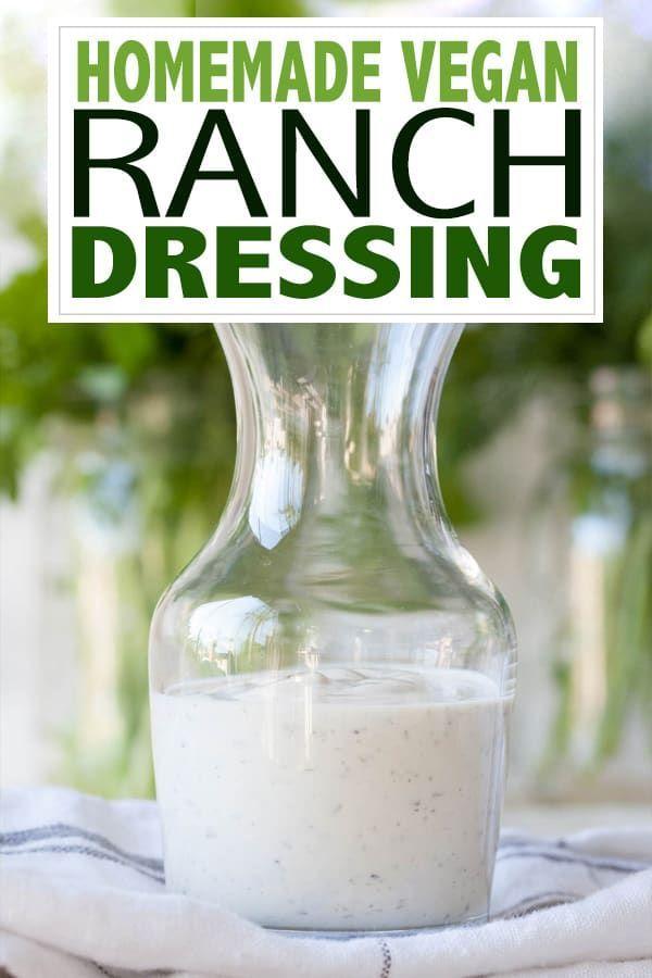 The Best Homemade Vegan Ranch Dressing Recipe Vegan Ranch Vegan Ranch Dressing Ranch Dressing
