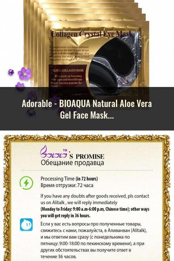 Bioaqua Natural Aloe Vera Gel Face Mask Skin Care Moisturizing Oil