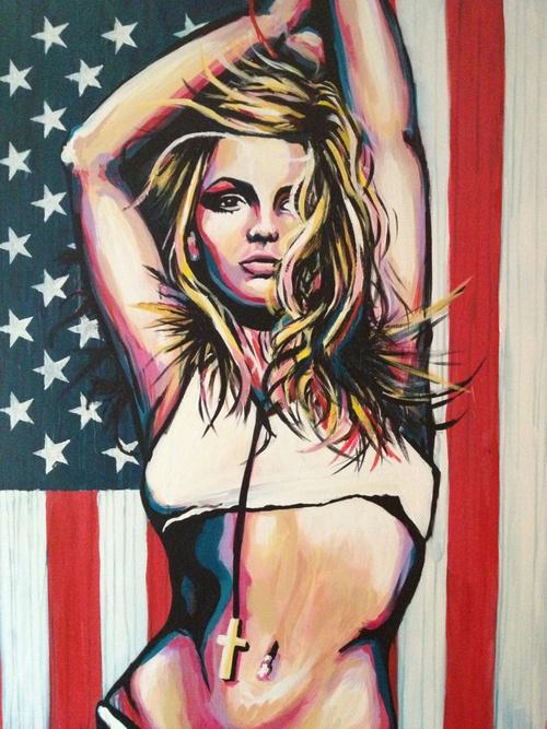 Britney Spears - Acrylic on Canvas