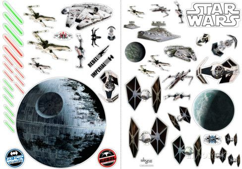 Star Wars - Battleships Muursticker - bij AllPosters.be