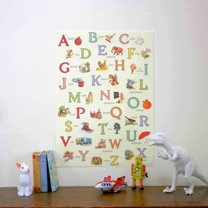 Vintage Children's ABC poster by Modern Vintage