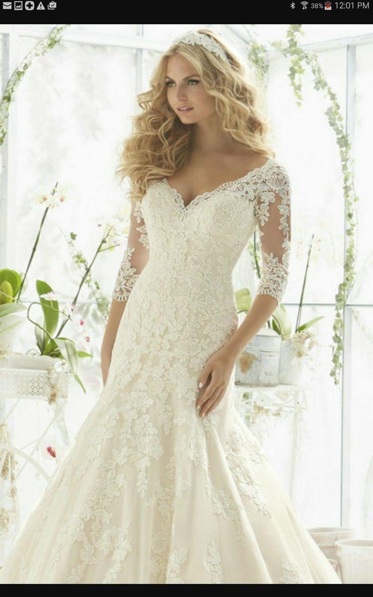 As melhores 11 ideias sobre bride on a budget gowns no pinterest ivory light gold lace 2812 modest wedding dress junglespirit Choice Image