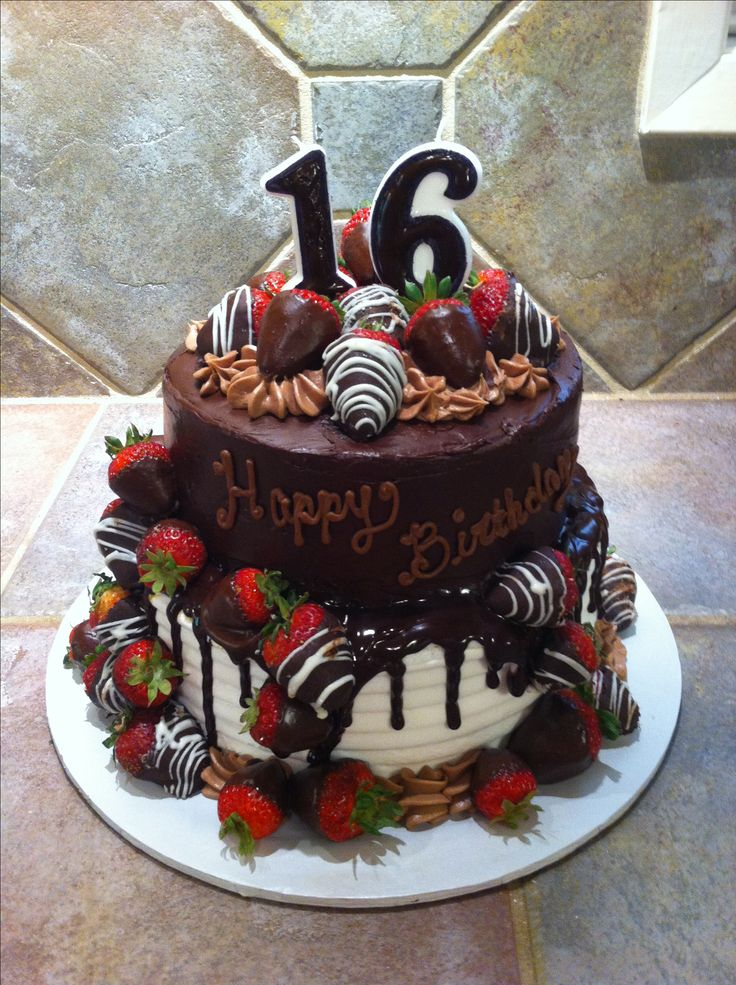 Chocolate covered strawberries birthday cake | Cakes and ...