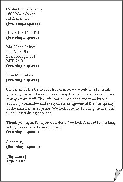 business letter block format template