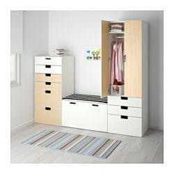 STUVA Combinaison de rangement, blanc, bouleau - 210x50x192 cm - IKEA