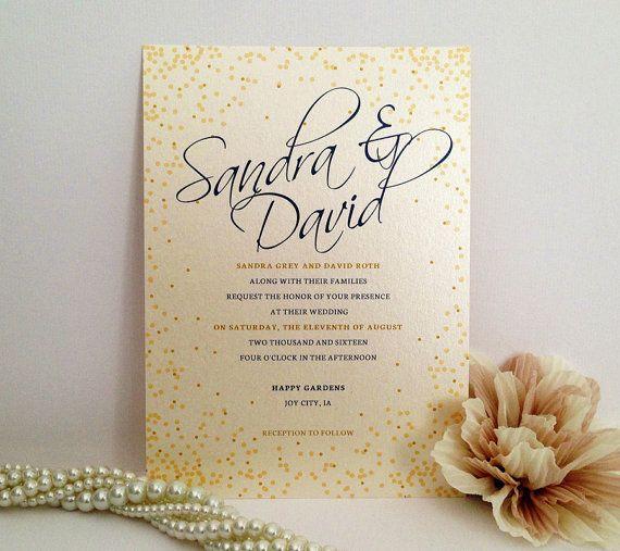 Wedding Invitation Printed On Luxury Pearlescent Paper