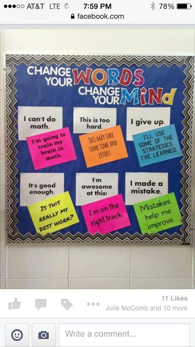 Bulletin board- Growth mindset