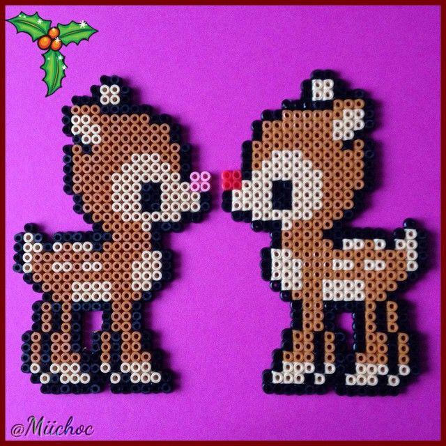 Christmas decorations hama perler beads by Miichoc