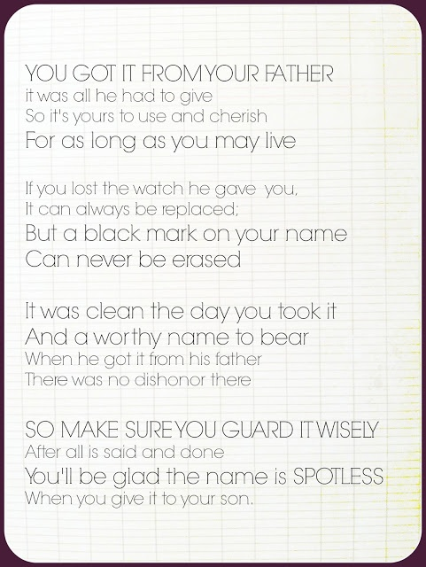 Father's Day Poem - Reputation -