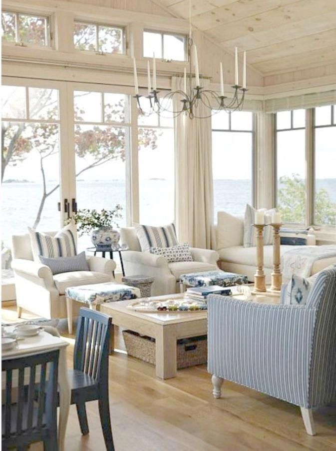 Formal Dining Table Setting Ideas, Beach House Interior Design Photos Interior Beach Cottage Design Coastalcottage Coastal Living Room Cottage Living Coastal Living Rooms