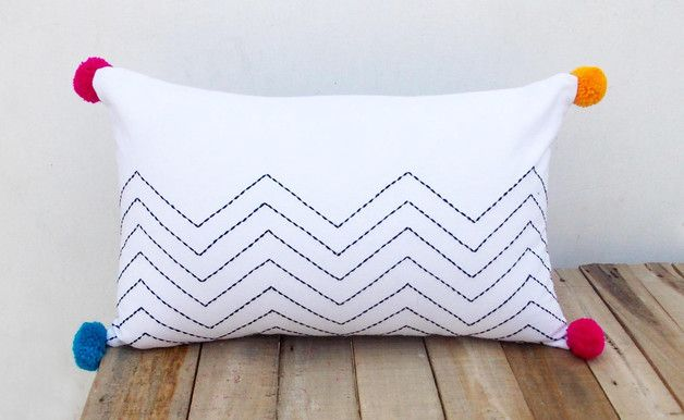 Perfect gift for house warming party. Lovely aztec black and white cushion cover – a unique product by VLiving via en.DaWanda.com