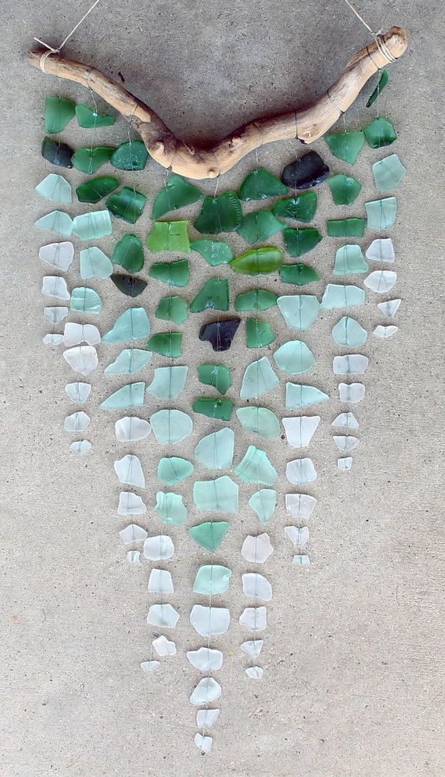 Sea Glass & Driftwood Mobile | Community Post: 30 DIY Sea Glass Projects                                                                                                                                                      More