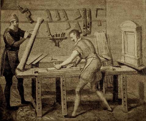 16th Century Dutch workbench
