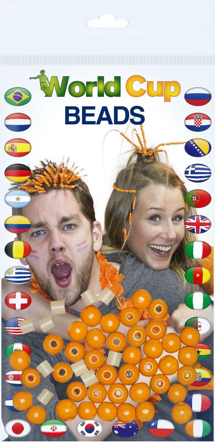 Jwel U Oranje Haarkralen - BS1-04 - Beady Shifter - Orange Webshop