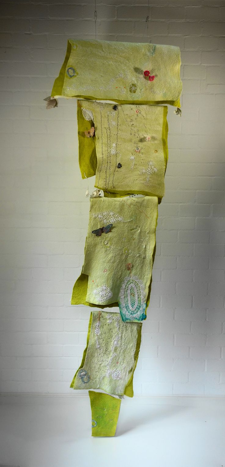 """Spring of life"" embroidery on felt Marijke Leertouwer"