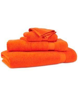 """Lauren Ralph Lauren Wescott 56"""" x 30"""" Bath Towel - Summer Orange"""